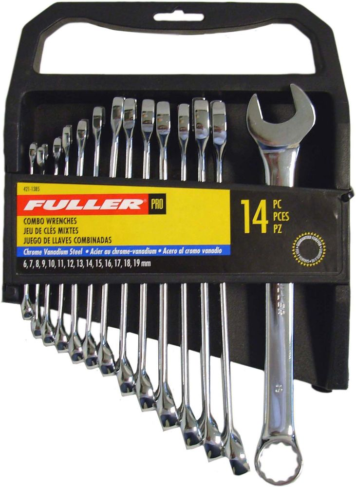 Fuller Pro Series Metric Combination Wrench Set (14-Piece)