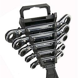 Fuller Offset Racheting SAE Box Wrench Set (5-Piece)
