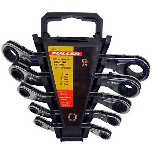 Fuller Offset Ratcheting Metric Box Wrench Set (5-Piece)