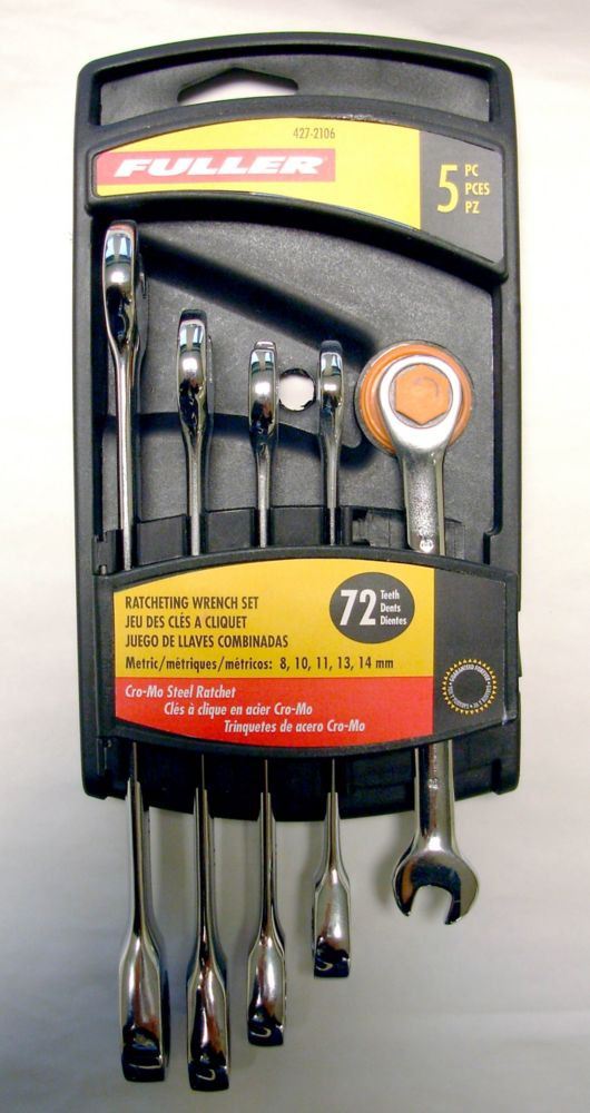 Metric Wrench Set with Ratcheting Box End (5-Piece)