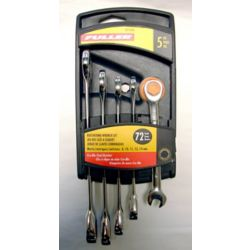Fuller Metric Wrench Set with Ratcheting Box End (5-Piece)