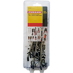 Fuller 1/4-inch Pegboard Hooks (Assorted 32-Pack)