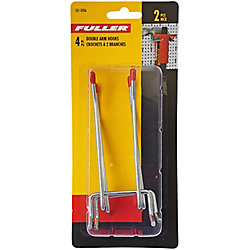 Fuller 4-inch Double Arm Pegboard Hook with Double Prong Base (2-Piece)