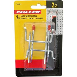 Fuller 2-inch Double Arm Pegboard Hook with Double Prong Base (2-Piece)