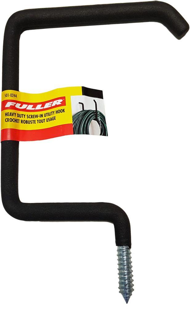 Fuller Heavy Duty Screw-In Utility Hook with Protective Foam Rubber
