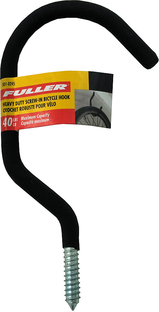 Heavy Duty Screw-In Bicycle Hooks with Protective Foam Rubber