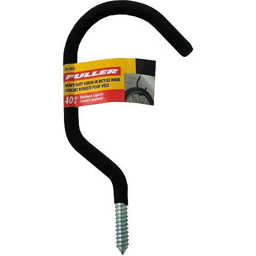Fuller Heavy Duty Screw-In Bicycle Hooks with Protective Foam Rubber