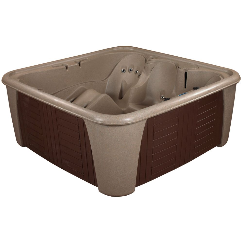 Aqualife Harbor 24 Jet Cobblestone with Lounger Standard Hot Tub PLUG & PLAY