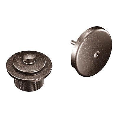 Kit de vidange de baignoire Push-N-Lock avec filetages de 1-1/2 pouce en bronze huilé frotté