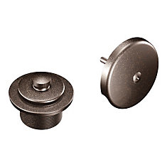 Oil Rubbed Bronze Push-N-Lock Tub Drain Kit With 1-1/2 inch Threads