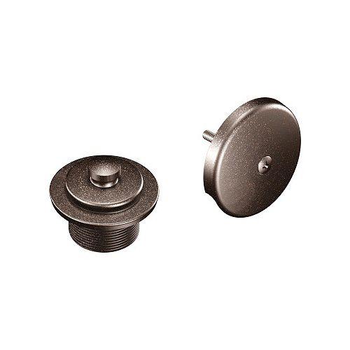 MOEN Kit de vidange de baignoire Push-N-Lock avec filetages de 1-1/2 pouce en bronze huilé frotté