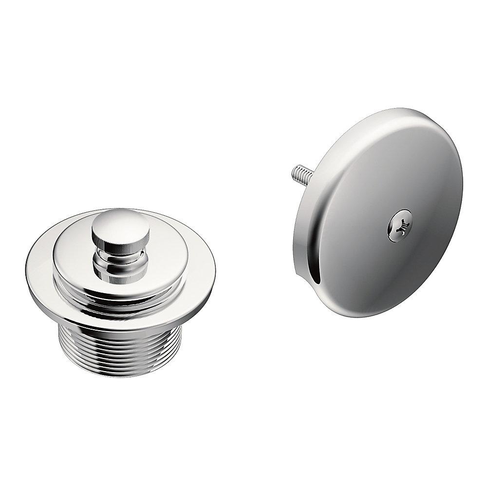 Trousse de vidange de baignoire Push-N-Lock en chrome avec filetage 1-1 / 2 po