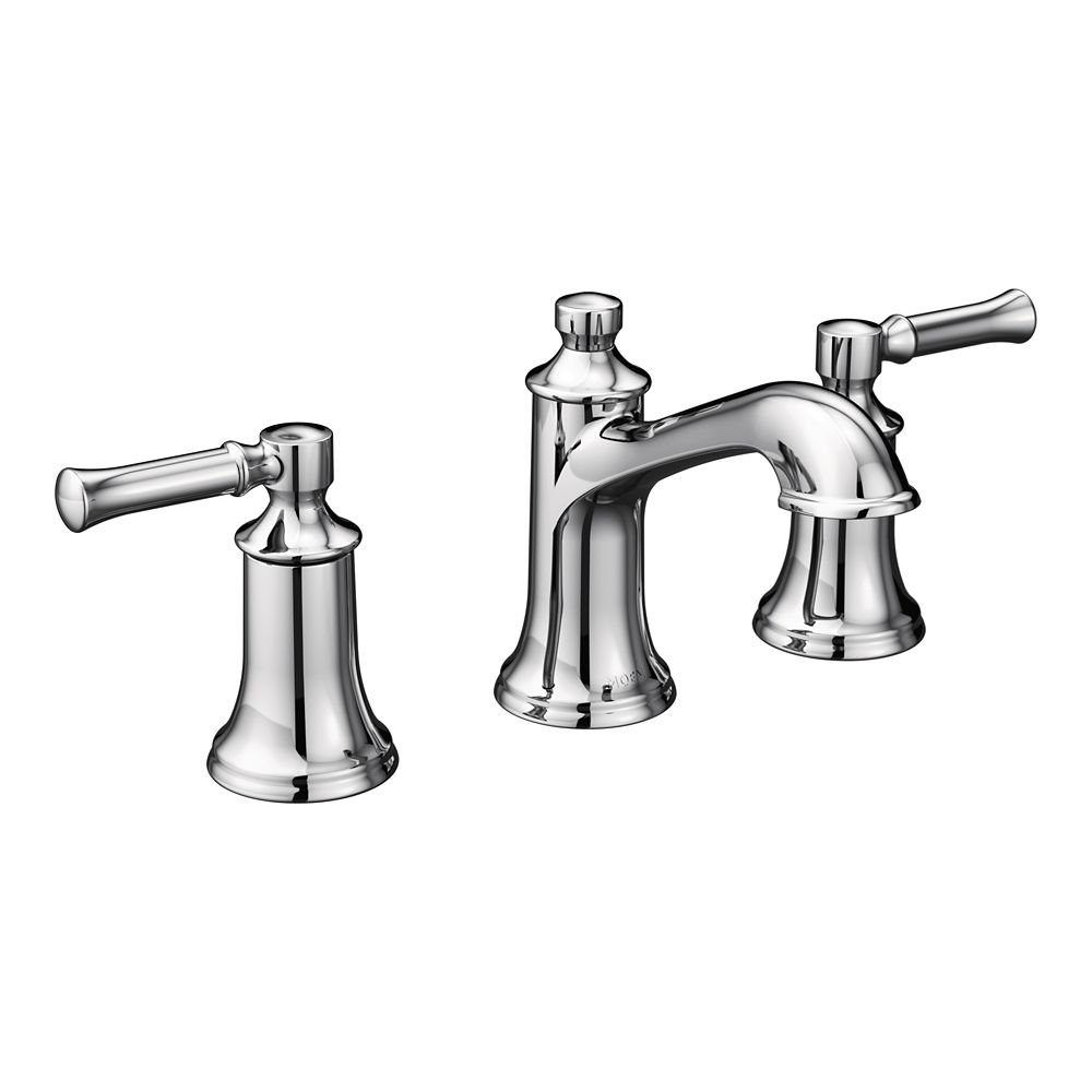 Moen Dartmoor Two-Handle High Arc Bathroom Faucet in Chrome (Valve Sold Separately)
