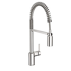 Align Single-Handle Pre-Rinse Spring Pulldown Kitchen Faucet in Chrome
