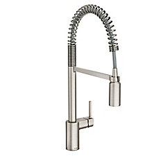 Align Spot Resist Stainless One-Handle Pre-Rinse Spring Pulldown Kitchen Faucet
