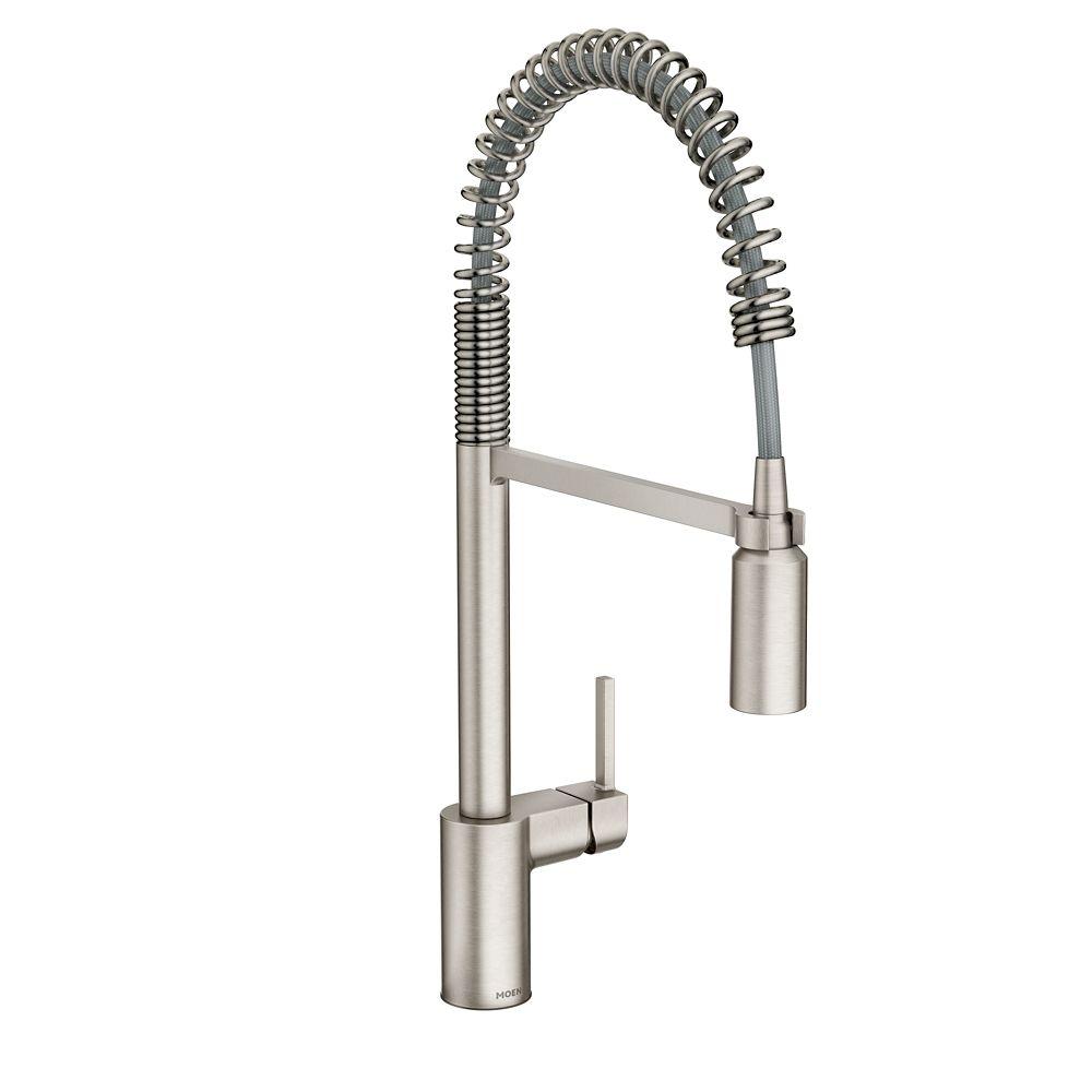 Moen Align Spot Resist Stainless Single-Handle Pre-Rinse Spring Pulldown Kitchen Faucet