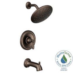 MOEN Ensemble de garniture de robinet de douche de pluie Posi-Temp Brantford en bronze frotté à l'huile (valve vendue séparément)