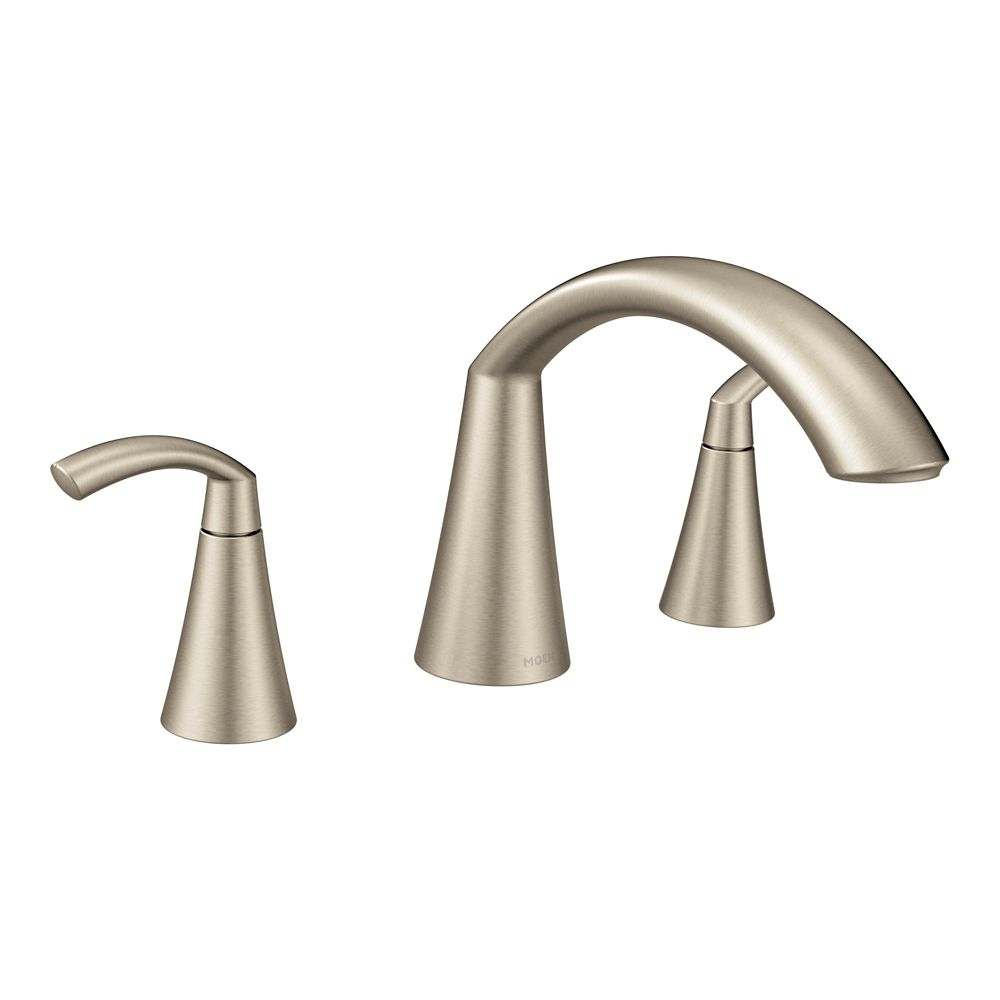 Glyde 2-Handle High-Arc Roman Tub Faucet In Brushed Nickel (Valve Sold Separately)