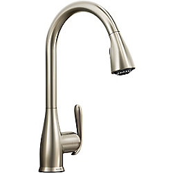 MOEN Haysfield Single-Handle High Arc Pull-Down Kitchen Faucet in Spot Resist Stainless