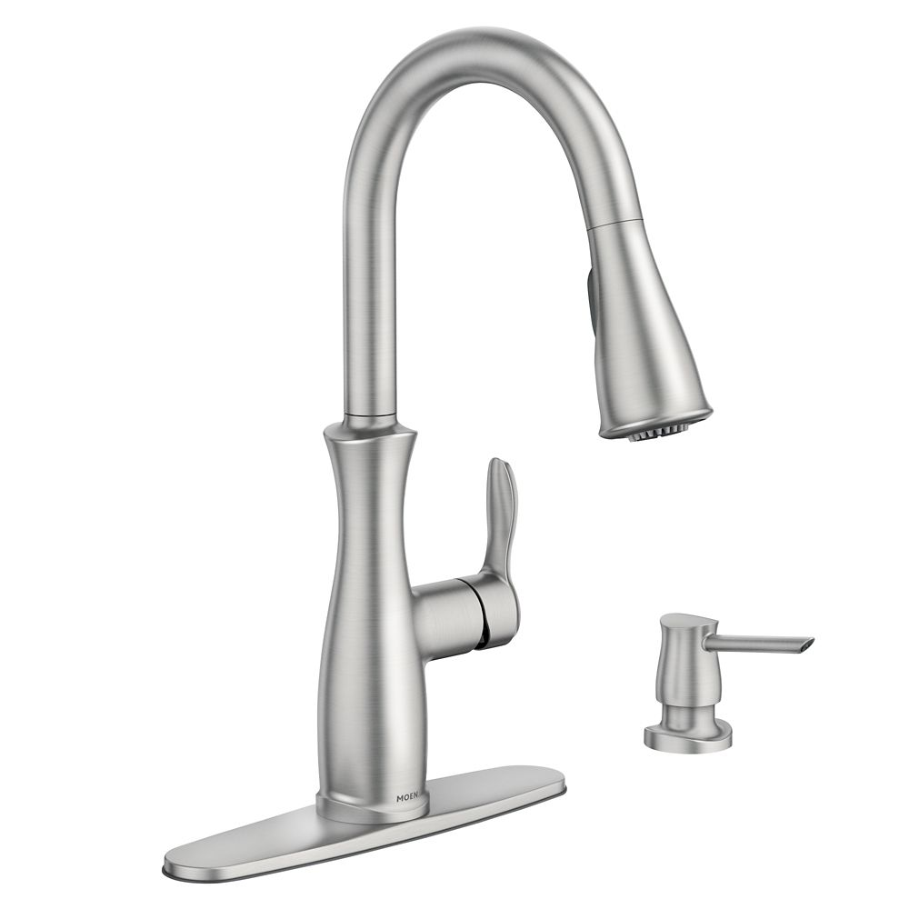 Nellis Single-Handle Pull-Down Sprayer Kitchen Faucet with Reflex in Spot Resist Stainless
