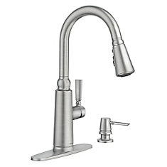 Coretta Pull-Down Kitchen Faucet With Power Boost In Spot Resist Stainless