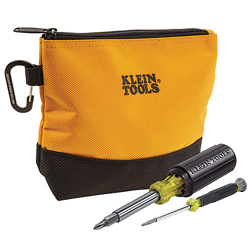 2 pièces Jeu de tournevis multi-embouts avec sac à outils