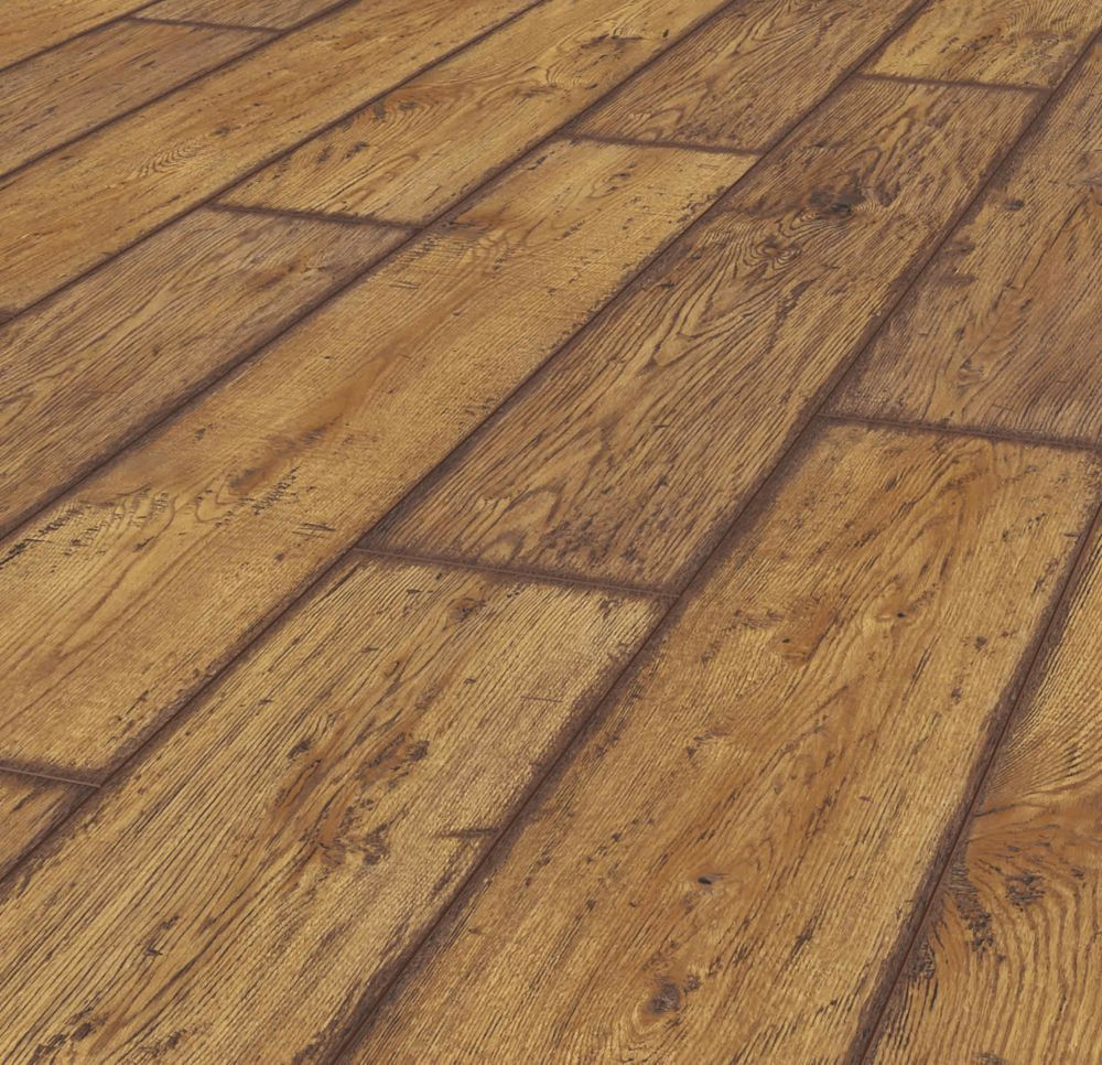Rustic Brown Oak 12 mm Thick x8.03-inch Wide x47.61-inch Long Laminate Flooring(15.94sq.ft./case)