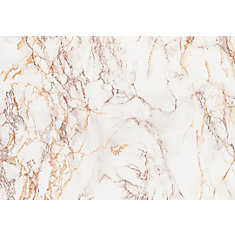 346-8032 Home Décor Self Adhesive Film 26-inch x 78-inch Marble Brown - 1 Pack