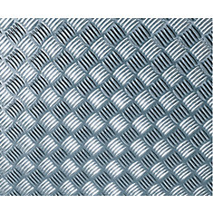 340-8007 Home Décor Self Adhesive Film 26-inch x 59-inch Chequer-plate Silver - 1 Pack