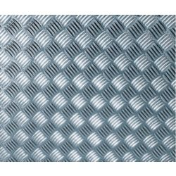 D-C-Fix 340-8007 Home Decor Self Adhesive Film 26-inch x 59-inch Chequer-plate Silver