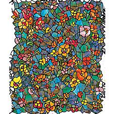 346-0431 Home Décor Self Adhesive Window Film 17-inch x 78-inch Venetian Garden - 2 Pack