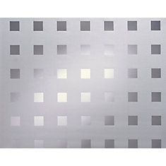 338-8010 Home Décor Static Cling Window Film 26-inch x 59-inch Caree - 1 Pack