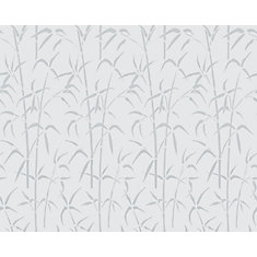 338-8023 Home Décor Static Cling Window Film 26-inch x 59-inch Bamboo - 1 Pack