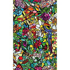 346-0647 Home Décor Self Adhesive Window Film 17-inch x 78-inch Tulia - 2 Pack