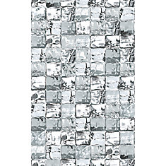 334-0030 Home Décor Premium Static Cling Window Film 17-inch x 59-inch Grey Ice Cube - 1 Pack