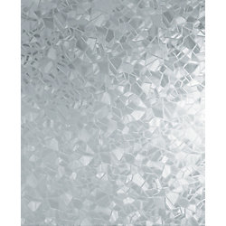 D-C-Fix 346-0166 Home Decor Self Adhesive Window Film 17-inch x 78-inch Splinter - (2-Pack)