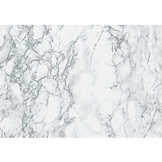 346-8306 Home Décor Self Adhesive Film 26-inch x 78-inch Marble Grey - 1 Pack