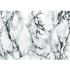346-8031 Home Décor Self Adhesive Film 26-inch x 78-inch Marble White - 1 Pack
