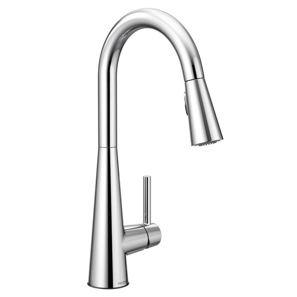 Moen Sleek Single-Handle Pull-Down Sprayer Kitchen Faucet With Reflex And Power Clean In Chrome