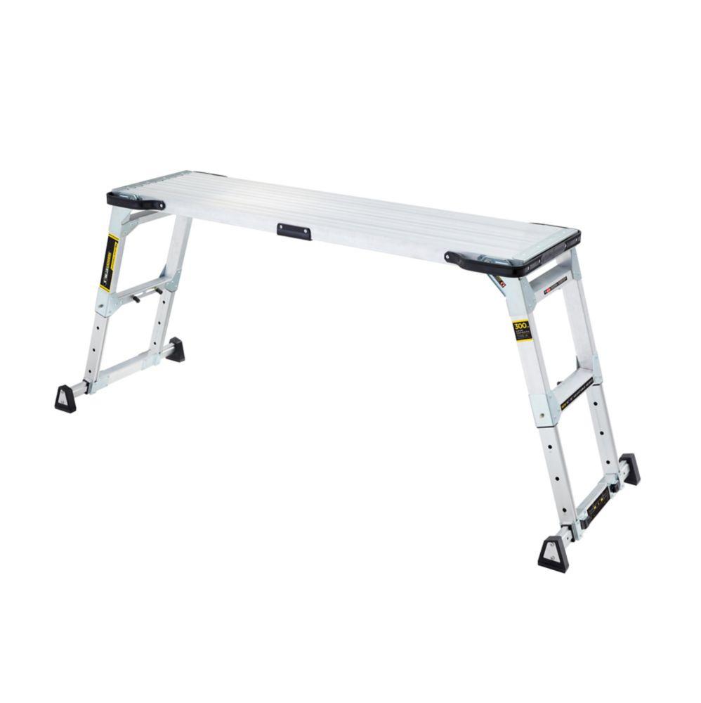 Gorilla Ladders Adjustable Height Aluminum Work Platform