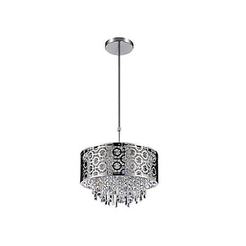 Galant 12 inch 3 Light Mini Pendant with Chrome Finish
