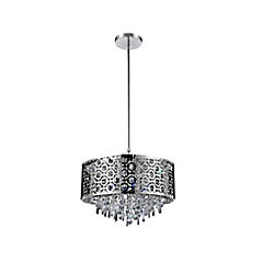 Galant 16 inch 5 Light Chandelier with Chrome Finish