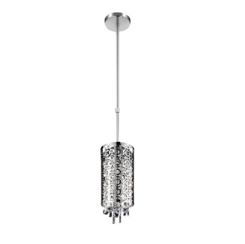 CWI Lighting Galant 6 inch 2 Light Mini Pendant with Chrome Finish
