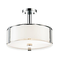 Lucie 14-inch 3 Light Mini Pendant with Chrome Finish