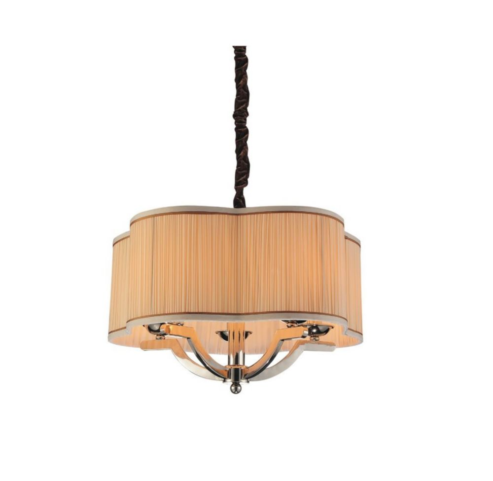 Serta 20-inch 5-Light Chandeliers with Chrome Finish