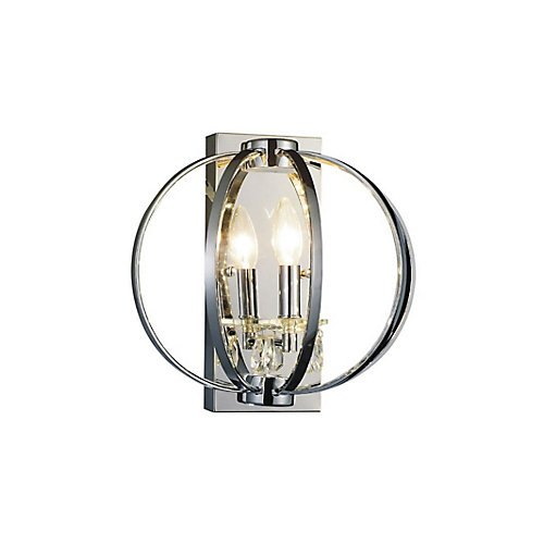 Abia 10 inch 1 Light Wall Sconces with Chrome Finish