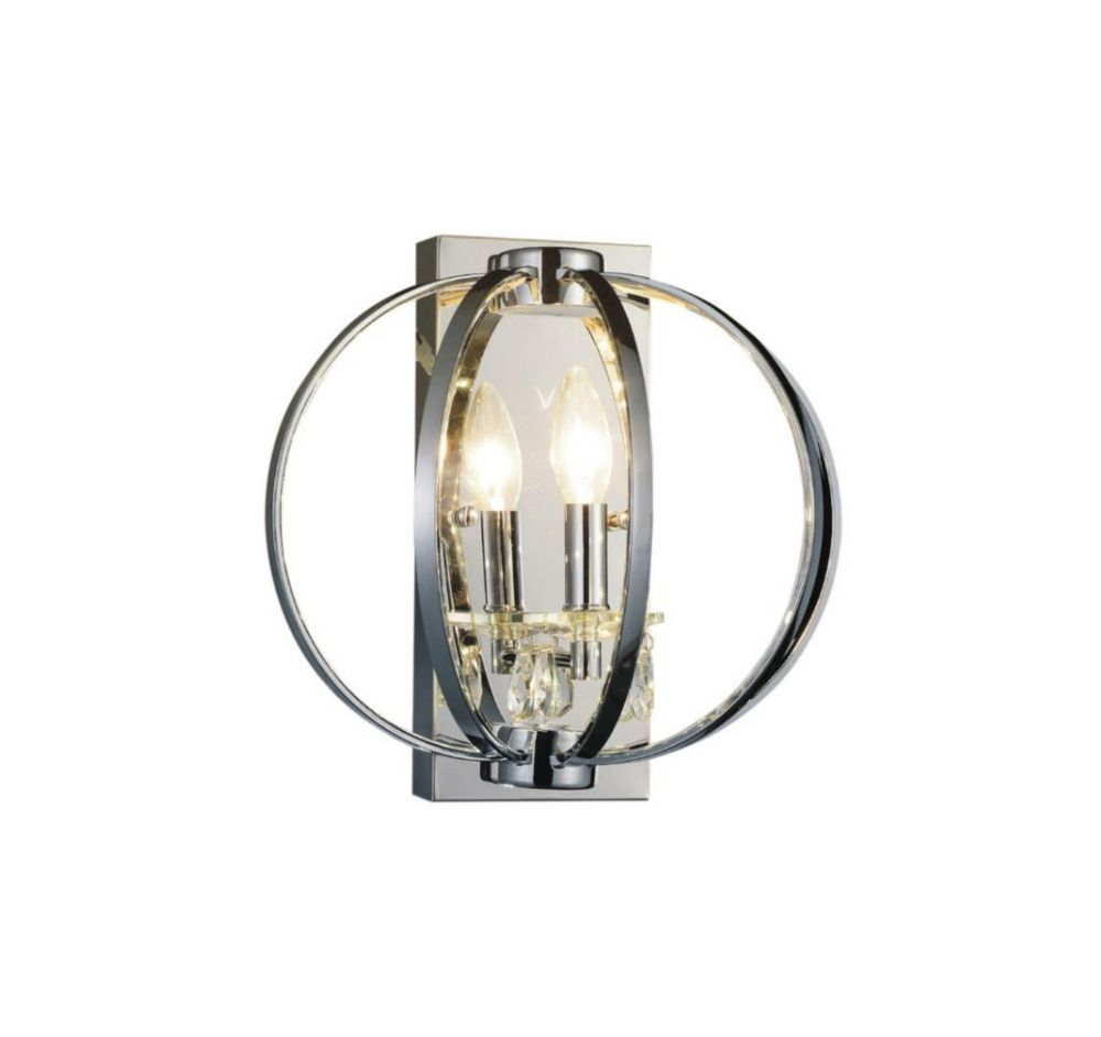 CWI Lighting Abia 10 inch 1 Light Wall Sconces with Chrome Finish