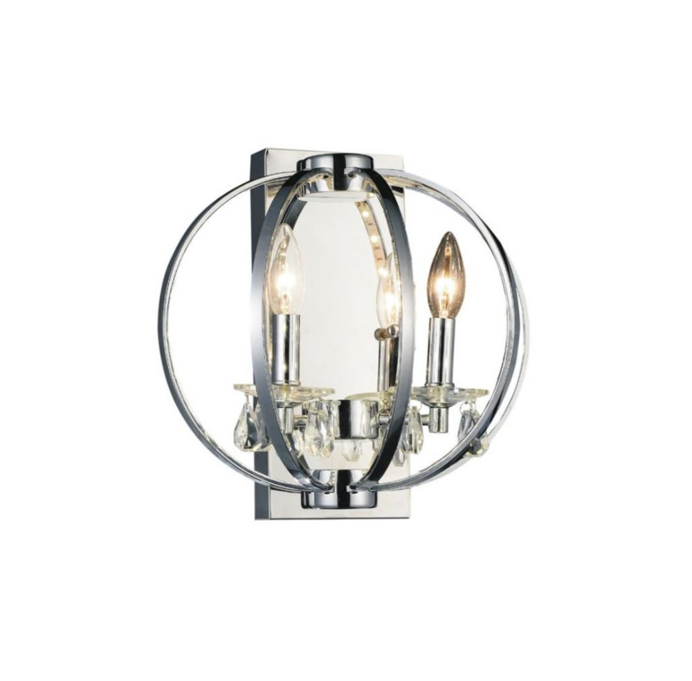 CWI Lighting Abia 10 inch 2 Light Wall Sconces with Chrome Finish