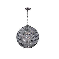 16 pouce Globe 6 Lumière Lustre avec Fini chromé