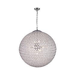 24 pouce Globe 12 Lumière Lustre avec Fini chromé